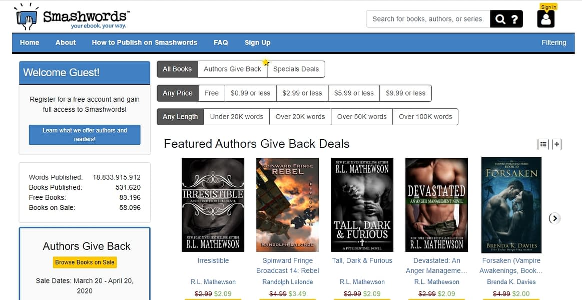 Smashwords publishing platforms