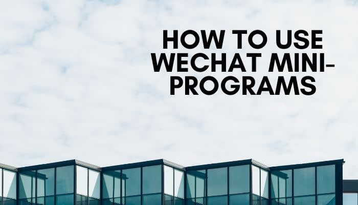 WeChat mini-programs