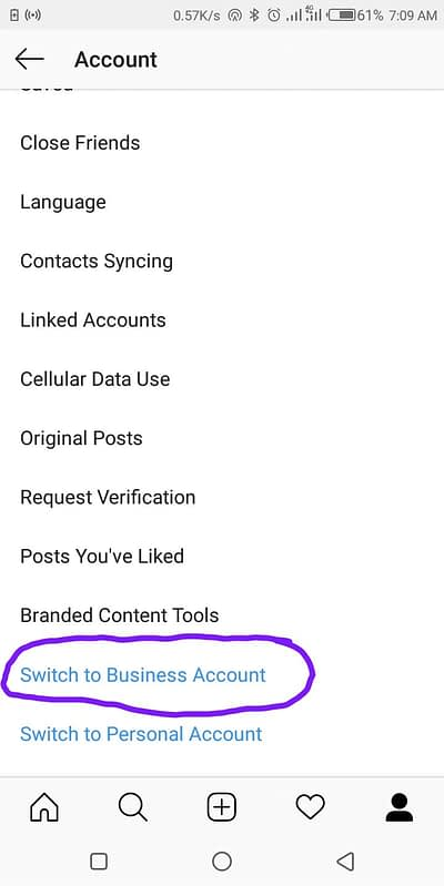 Set up an Account for Instagram Business